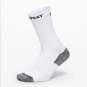 Lululemon Intent Crew Sock White NWT Size L/XL